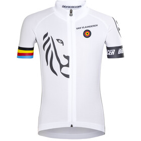 Bioracer Van Vlaanderen Pro Race Kortærmet cykeltrøje Børn, white